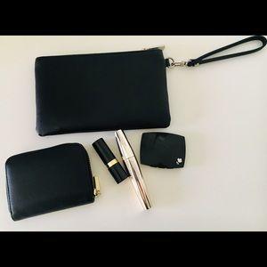 Express Black Leather Wristlet